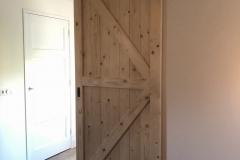 Verbouwing bovenverdieping: schuifdeur