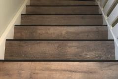 Verbouwing bovenverdieping: trap voorzien van PVC-vloer