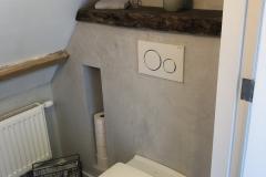 Verbouwing bovenverdieping: toilet